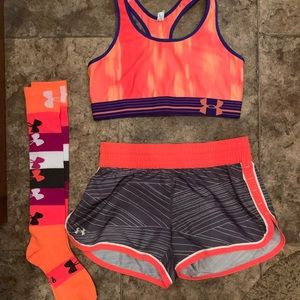 Under Armour Workout set + socks